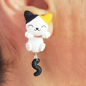 Happy Kitty, Sleepy Kitty Earrings - BellePark