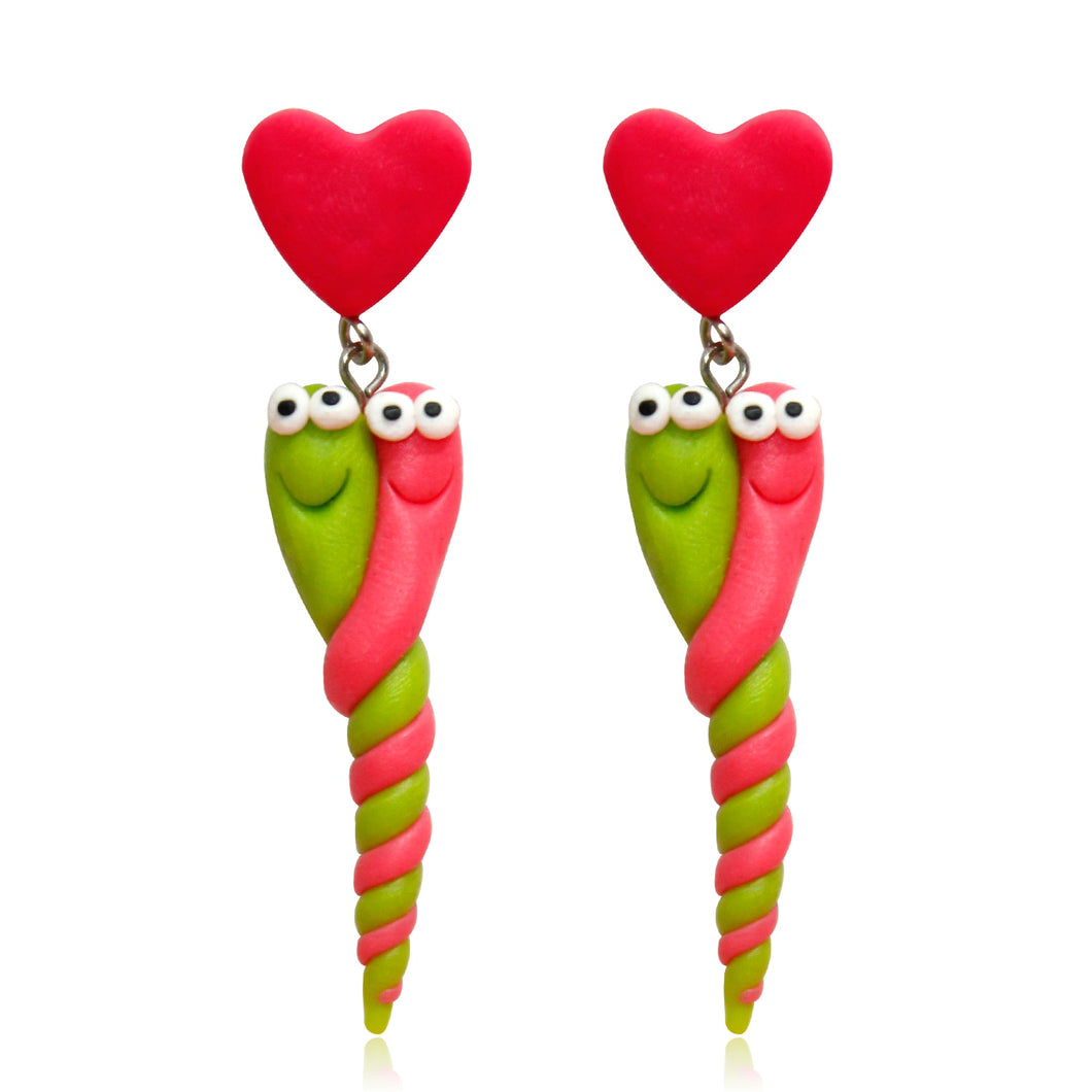 Worm loves Worm Earrings Handmade - BellePark