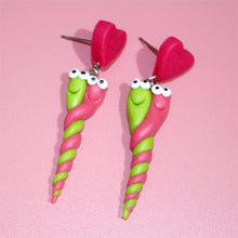Load image into Gallery viewer, Worm loves Worm Earrings Handmade - BellePark
