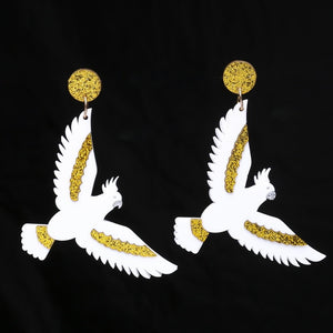 Golden Cockatoo Australian Bird Collection Earrings - BellePark
