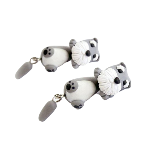 Schnauzer Polymer Clay Earrings - BellePark