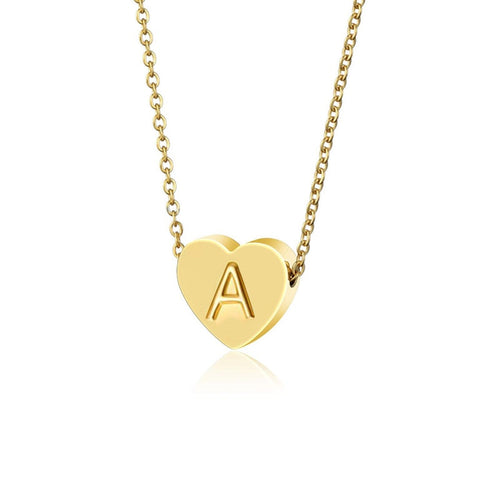 Heart Initial Necklace - BellePark