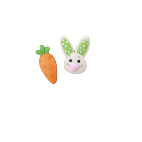 Rabbit Eats Carrot Earrings - BellePark