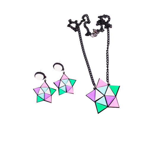 Geo Star Earring and Necklace Set - BellePark