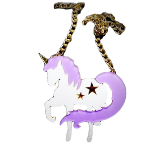 Prancing Unicorn Necklace - BellePark