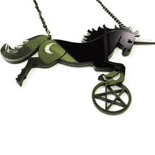 Load image into Gallery viewer, Unicorn Pentagram Necklace - BellePark