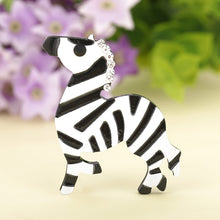 Load image into Gallery viewer, Zebra Crossing Brooch - BellePark