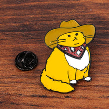 Load image into Gallery viewer, Cowboy Cat Pin - BellePark