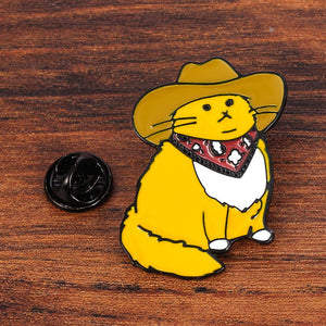 Cowboy Cat Pin - BellePark