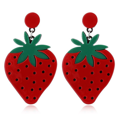 Olive You, Strawberry Much Earrings - FREE SHIPPING - BellePark