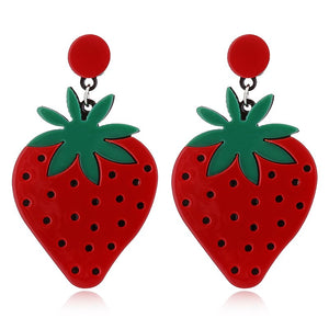 Olive You, Strawberry Much Earrings - BellePark