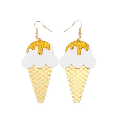 Sprinkled with Gold Ice Cream Earrings - BellePark