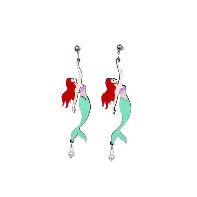 Mermaid Earrings Laser Cut Acrylic - BellePark