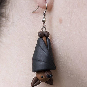Handmade Fruit Bat Australian Animal Collection Earrings - BellePark