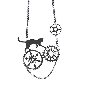 Steampunk Kitty Necklace - BellePark