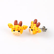Load image into Gallery viewer, Happy Harold Giraffe Earrings - BellePark