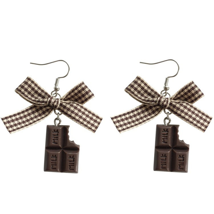 Chocolate makes my clothes shrink Earrings - BellePark