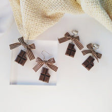 Load image into Gallery viewer, Chocolate makes my clothes shrink Earrings - BellePark