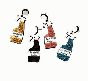 F!ck off Repellent Spray Earrings - BellePark