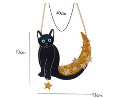Load image into Gallery viewer, The Cat Jumps over the Moon Necklace - BellePark
