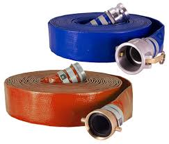 What is the difference between red and blue layflat hose?