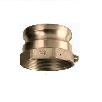 "Brass 5"" Male Camlock x 5"" Female Pipe (npt) Fitting"