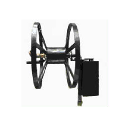 Best Post Mounted Hose Reel - 5/8 x 100 ft Capacity - Made in the USA - Factory Direct Hose