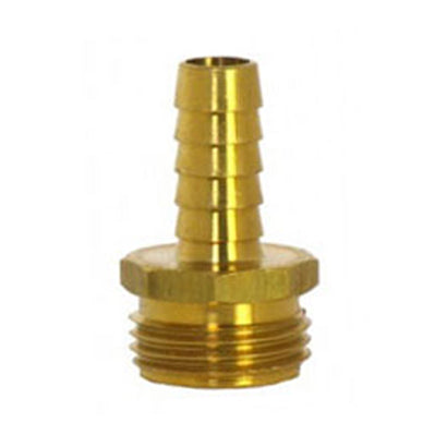 Industrial Grade Brass Male Garden Hose Fitting for 3/4 inch hose - Factory Direct Hose