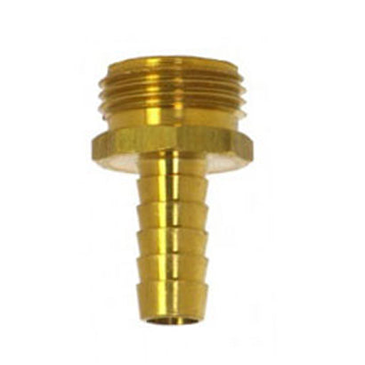 Industrial Grade Brass Male Garden Hose Fitting for 5/8 inch hose