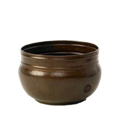 Rustic Patina Garden Hose Pot - 5/8 x 100 ft capacity