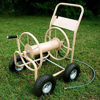 4 Wheel Garden Hose Reel Cart - 5/8 x 300 ft Capacity - Limited Lifetime Warranty! - Factory Direct Hose