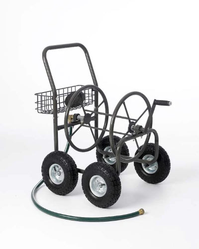 4 Wheel Garden Hose Reel Cart - 5/8 x 250 ft - Limited Lifetime Warranty! - Factory Direct Hose