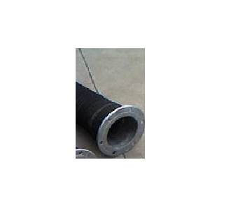 12 Inch Rubber Suction Hose with 12 Inch Flanges - 25 ft