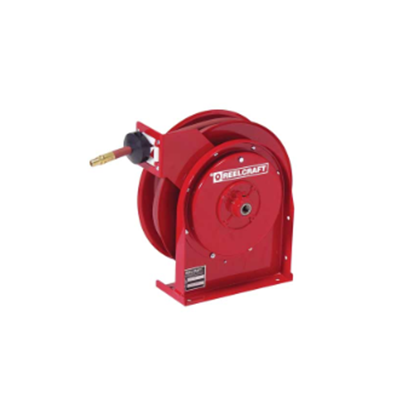 Compact Spring Driven Air Hose Reel - 1/4 x 50 - Hose Included - Made in USA - Factory Direct Hose