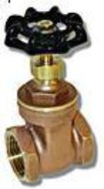 "4"" Brass Gate Valve - 200WOG 125WSP - Factory Direct Hose"