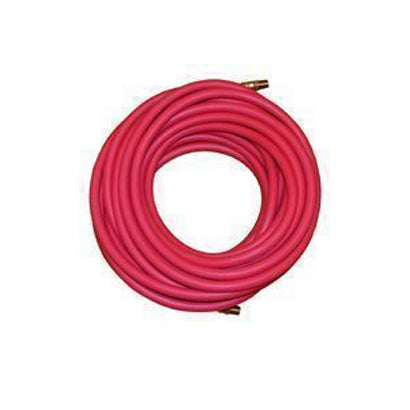 "1"" Red Rubber Air Hose x 100 ft - Male Pipe Ends (npt thread) - Factory Direct Hose"