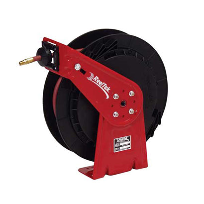 Lightweight Spring Driven Air Hose Reel - 1/4 x 50 ft - Hose Included - Made in USA - Factory Direct Hose