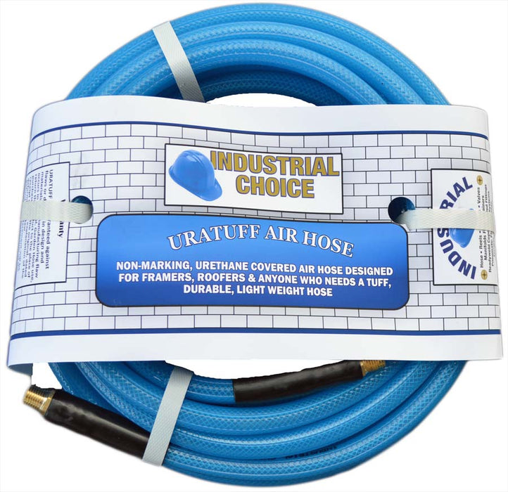 1/4 X 100 ft - Professional Grade Polyurethane Air Hose by Industrial Choice - Lightweight & Durable - Factory Direct Hose