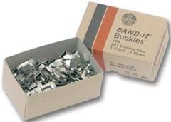 "3/8"" 201 Stainless Steel Buckle - Box of 100 - Factory Direct Hose"