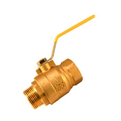 1 inch Brass Ball Valve - Full Port - Female x Male pipe thread