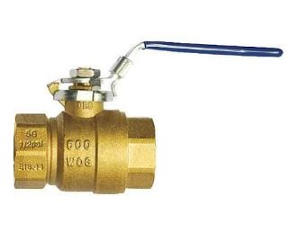 "3"" Brass Ball Valve - Full Port - 600WOG 150SWP SGA rated LP gas - Locking Handle - Factory Direct Hose"