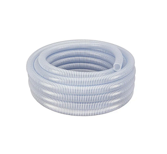 "8"" Clear Suction Hose - 25 ft Roll"