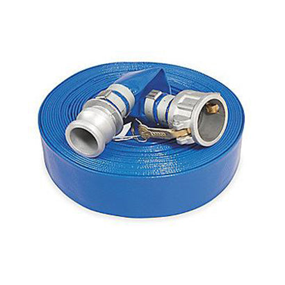 "1"" Water Discharge Hose Assembly with M/F Cam Lock Fittings - 25 Ft - Factory Direct Hose"