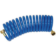 Contractors Choice - Coiled Garden Hose 3/8 x 25 BLUE