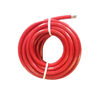 "1/4 Inch Water Hose - Red Rubber - 1/4"" x 75 ft - Factory Direct Hose"