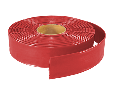 "2.5"" Red Layflat Hose - 300 ft roll - Factory Direct Hose"