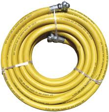 Yellow Jackhammer Air Hose - 3/4 x 50ft - 300psi (Universal Ends) - Factory Direct Hose
