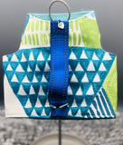"NEW ""Long Board"" Blue Green Triangles"