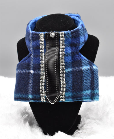 Blue Plaid w/Rhinestones