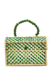 "The ""Audrey"" Handbag In Shades of Green"